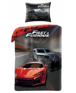 Fast & Furious Speed Single Cotton Duvet Cover and Pillowcase Set