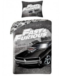 Fast & Furious Single Cotton Duvet Cover and Pillowcase Set