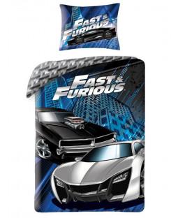 Juego de funda nórdica de algodón azul Fast & Furious Single