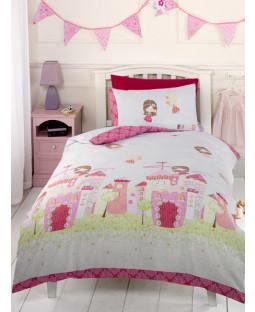 Fairy Castle Double Duvet Cover and Pillowcase Set