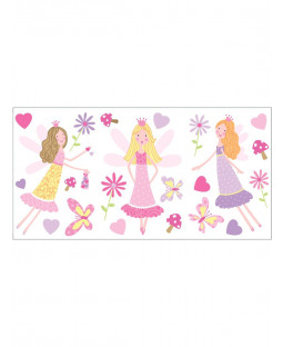Fairy Garden Wall Stickers - 22 pieces