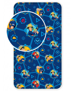 Fireman Sam Single Fitted Sheet - Blue