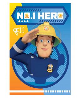 Fireman Sam Hero Fleece Blanket