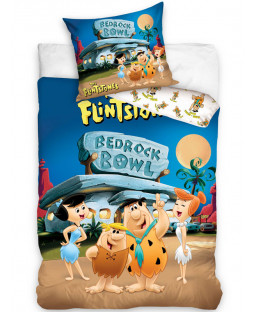 Flintstones Bedrock Bowl Set de housse de couette en coton simple