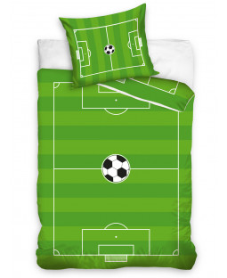 Football Pitch Single Cotton Duvet Cover Set