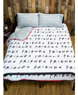 Friends Mono Coverless Double 10.5 Tog Juego de edredón y funda de almohada