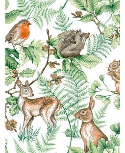 Woodland Animals Wallpaper Natural Graham & Brown 108569