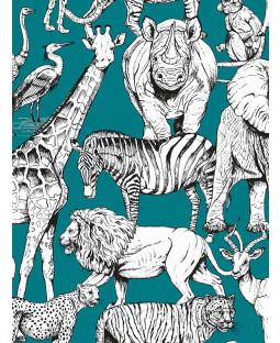 Jungle Animals Wallpaper Green Graham & Brown 107692
