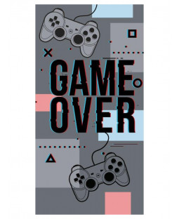 Game Over Gray Towel
