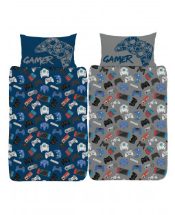 Gamer Single Duvet Cover and Pillowcase Set