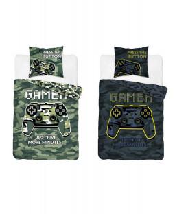 Gamer Glow In The Dark Single Duvet Cover and Pillowcase Set - European Size