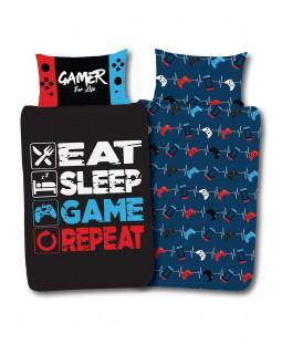 Gamer for Life Single Panel Duvet and Pillowcase Set