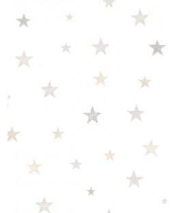 Little Ones Eco Stars Wallpaper Grey GranDeco LO2701