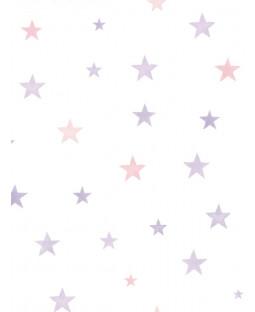 Little Ones Eco Stars Wallpaper Pink GranDeco LO2702