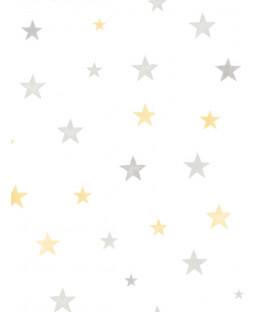 Little Ones Eco Stars Wallpaper Yellow GranDeco LO2703