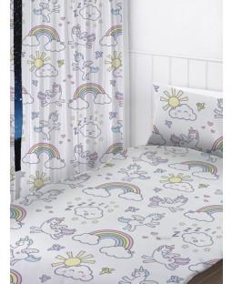 "Pastel Unicorns Curtains 54"" Drop"