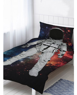 Astronaut Single Duvet Cover and Pillowcase Set