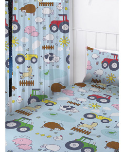 "Farm Animals Curtains 66"" x 54"""