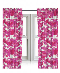 Pink Camouflage Curtains 66in x 54in