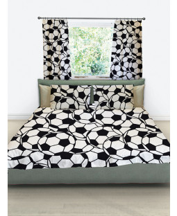 Football Reversible Double Duvet Cover and Pillowcase Set