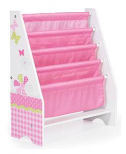 Girls Pink Patchwork Sling Bookcase