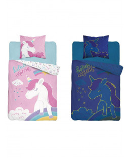 Unicorn Believe Glow in the Dark Copripiumino singolo - Taglia europea