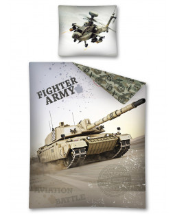 Copripiumino singolo Army Tank Glow in the Dark - Taglia europea