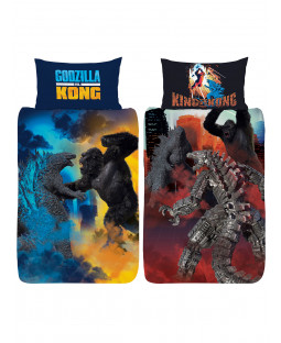 Godzilla Vs Kong Single Panel Duvet Cover and Pillowcase Set
