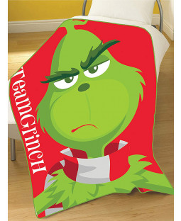 The Grinch Movie Team Grinch Fleece Blanket