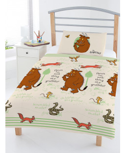 The Gruffalo Woodland 4 in 1 Toddler Bedding Bundle Set (Duvet and Pillow and Covers)