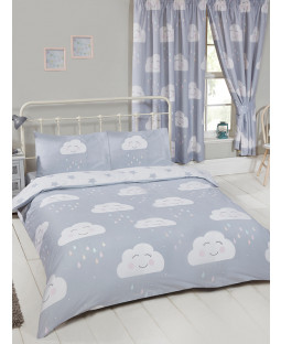 Happy Clouds Double Duvet Cover Set Bedroom