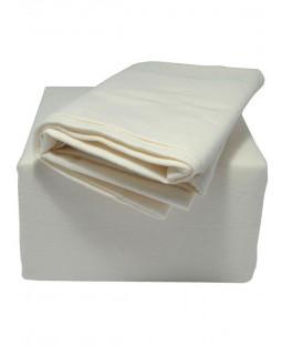 Indulgence King Size Brushed Cotton Fitted Sheet, Cream