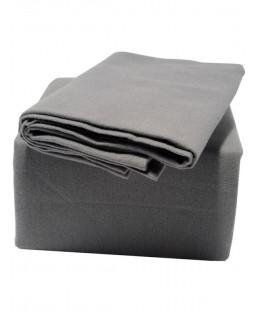 Indulgence King Size Brushed Cotton Fitted Sheet, Grey