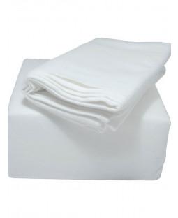 Indulgence King Size Brushed Cotton Fitted Sheet, White