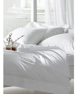 Bellissimo 400 TC Egyptian Cotton Duvet Cover and Pillowcase - Double, White
