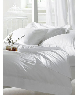 Bellissimo 400 TC Egyptian Cotton Duvet Cover and Pillowcase - King Size, White