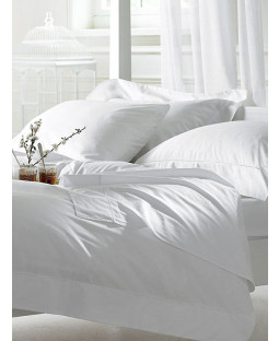 Bellissimo 400 TC Egyptian Cotton Duvet Cover and Pillowcase - Single, White