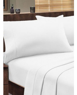 Dorchester 1000 TC 100% Cotton Flat Sheet - Double, White