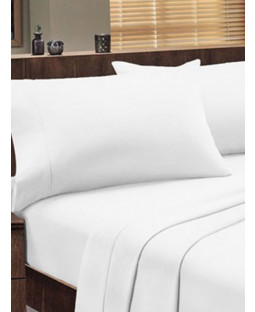 Dorchester 1000 TC 100% Cotton Flat Sheet - King Size, White