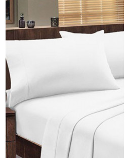 Dorchester 1000 TC 100% Cotton Flat Sheet - Super King Size, White