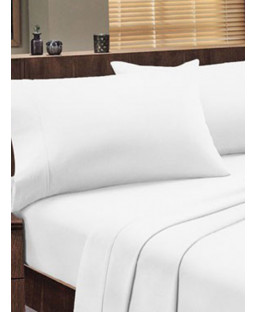 Dorchester 1000 TC 100% Cotton Fitted Sheet - Double, White