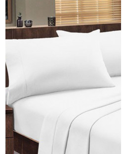 Dorchester 1000 TC 100% Cotton Fitted Sheet - King Size, White