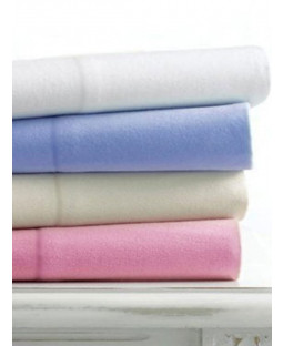 Brushed Cotton Flanellette Fitted Cot Sheet - 70cm x 140cm, Blue