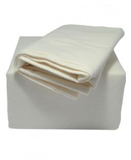 Indulgence Brushed Cotton Fitted Sheet - Double, Cream