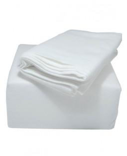 Indulgence Brushed Cotton Fitted Sheet - Double, White