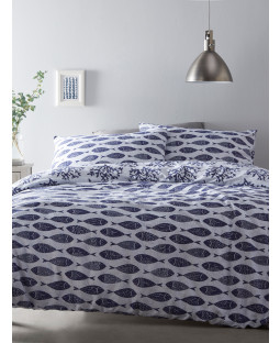 Portfolio Cove Blue King Size Duvet Cover Set