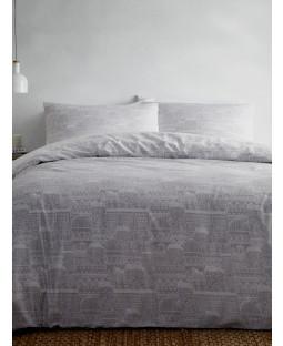Portfolio Old Town Grey King Size Duvet Cover Set