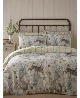 Portfolio Rabbit Meadow Sage King Size Duvet Cover Set