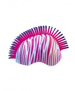 Tuff Nutz Credz Mohawk Rainbow Zebra Safety Helmet