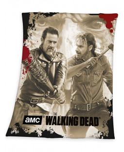 The Walking Dead Negan and Rick Fleece Blanket